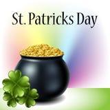 Chaudron du jour de St Patrick illustration stock