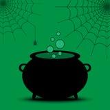 Chaudron Halloween de sorcière illustration de vecteur