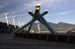 Chaudron olympique, Vancouver Photos stock