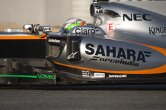 Chaufför Alfonso Celis Team Force India Royaltyfri Fotografi