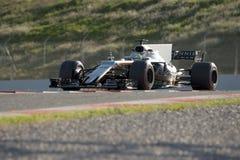 Chaufför Alfonso Celis Team Force India Arkivfoton