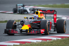 Chaufför Dani Ricciardo Team Red Bull Royaltyfria Foton