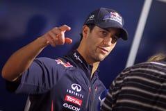 Chaufför Daniel Ricciardo av Red Bull det tävlings- laget Arkivbilder