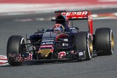 Chaufför Daniil Kvyat Team Red Bull Royaltyfria Bilder