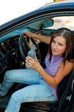 chaufför drucken kvinnlig Royaltyfri Fotografi