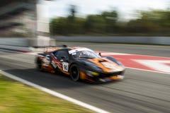Chaufför E Perez Companc Ferrari 458 Italia GT3 Royaltyfria Foton