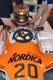 Chaufför för pilar F1 Arkivfoto