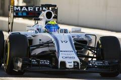 Chaufför Felipe Massa Team Williams Martini F1 Royaltyfria Foton
