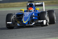 Chaufför Felipe Nasr Team Sauber Royaltyfri Foto