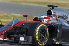 Chaufför Fernando Alonso mclaren laget Royaltyfria Foton