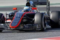 Chaufför Fernando Alonso mclaren laget Royaltyfri Foto