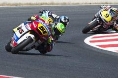 Chaufför Granado Santos, Eric Moto2 Promoracing lag arkivbilder