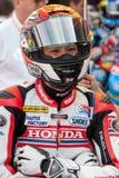 Chaufför Hiroki Ono Team Honda FIM CEV Repsol Royaltyfri Foto