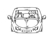 Chaufför i bil Arkivbilder