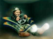 chaufför Imaginärt lopp fotografering för bildbyråer