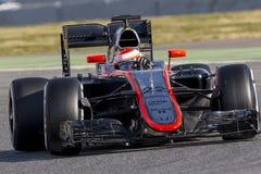 Chaufför Jenson Button mclaren laget Royaltyfria Foton