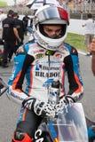 Chaufför Jorge Navarro Team Machado FIM CEV Repsol Royaltyfri Bild