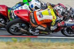 Chaufför Jorge Serrano Honda CBR250R Royaltyfri Fotografi