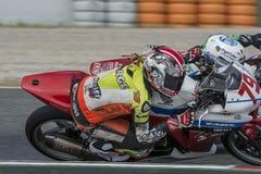 Chaufför Jorge Serrano Honda CBR250R Royaltyfri Bild