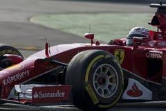 Chaufför Kimi Raikkonen Team Ferrari Arkivbild