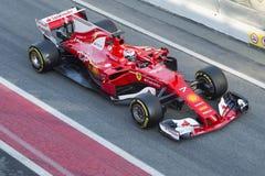 Chaufför Kimi Raikkonen Team Ferrari Arkivfoto