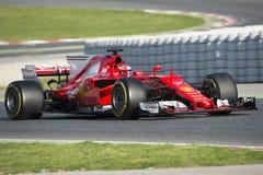 Chaufför Kimi Raikkonen Team Ferrari Fotografering för Bildbyråer