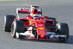 Chaufför Kimi Raikkonen Team Ferrari Arkivbilder