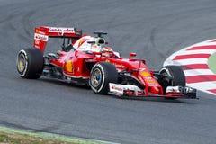 Chaufför Kimi Raikkonen Team Ferrari F1 Arkivfoto
