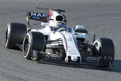 Chaufför Lance Stroll Team Williams Royaltyfri Bild
