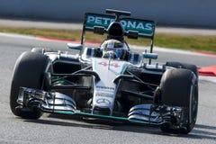 Chaufför Lewis Hamilton Team Mercedes Petronas Royaltyfria Foton
