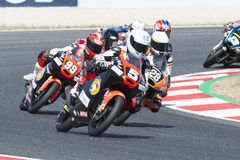Chaufför Masia Vargas, Jaume Moto3 Cuna de campeones Lag arkivbilder