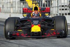 Chaufför Max Verstappen Team Red Bull Arkivfoto