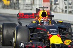 Chaufför Max Verstappen Team Red Bull Arkivbild