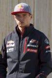 Chaufför Max Verstappen Team Toro Rosso F1 Fotografering för Bildbyråer