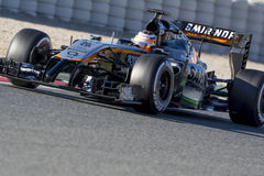 Chaufför Nico Hulkenberg Team Force India Royaltyfri Fotografi