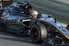 Chaufför Nico Hulkenberg Team Force India Arkivbild