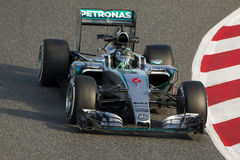 Chaufför Nico Rosberg Team Mercedes Arkivbild
