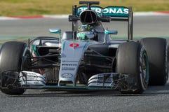 Chaufför Nico Rosberg Team Mercedes Royaltyfri Bild