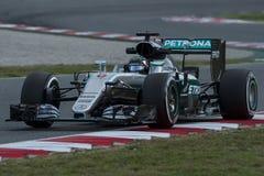 Chaufför Nico Rosberg Team Mercedes Arkivbilder