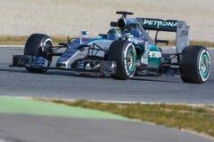 Chaufför Niko Rosberg Team Mercedes Arkivfoto