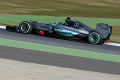Chaufför Niko Rosberg Team Mercedes Arkivfoton