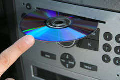 Chaufför och cd Arkivfoto
