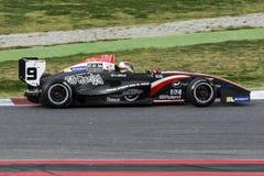 Chaufför Oscar Arcilla LagSB Racing Arkivbild