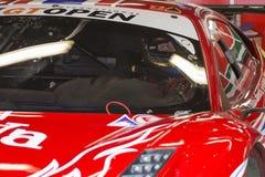 Chaufför P LATHOURAS Ferrari 458 Italia GT3 2013 Royaltyfri Fotografi