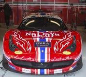 Chaufför P LATHOURAS Ferrari 458 Italia GT3 2013 Arkivfoto