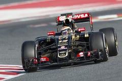 Chaufför Pastor Maldonado Team Lotus Arkivfoton