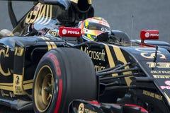 Chaufför Pastor Maldonado Team Lotus F1 Royaltyfria Foton