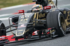 Chaufför Pastor Maldonado Team Lotus F1 Arkivbilder