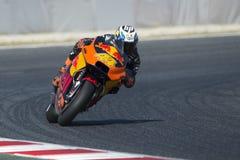 Chaufför POL ESPARGARO Red Bull lag Gigantisk energigrand prix av Catalonia royaltyfri bild