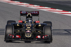 Chaufför Romain Grosjean Team Lotus F1 Arkivbilder